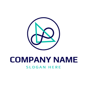 Blue Circle and Green Triangle logo design
