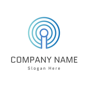 Blue Circle and Internet logo design