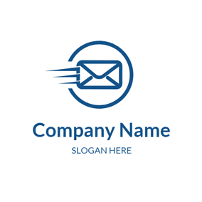 Blue Circle and Letter logo design