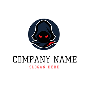 Blue Circle and Mysterious Assassin logo design