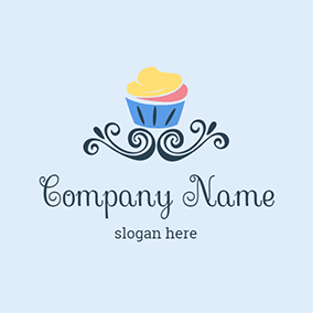 Blue Cup Ice Cream logo design