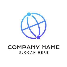 Blue Earth and Network logo design