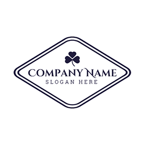 Blue Frame and Clover logo design