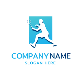 Blue Frame and Sportsman logo design