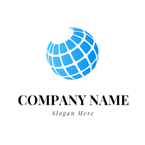 Blue Globe Icon logo design