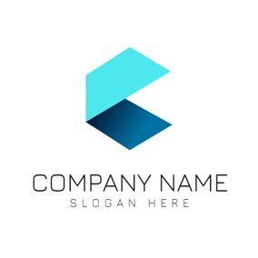 Blue Gradient Square logo design