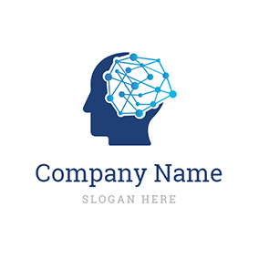 Blue Head Structure and Ai logo design