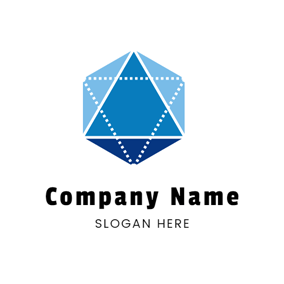 Blue Hexagon and Math logo design