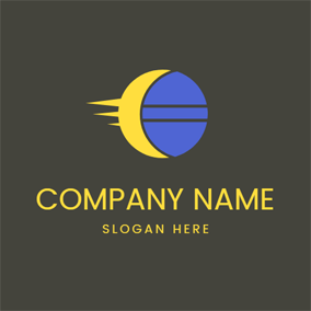 Blue Moon and Covered Sun logo design
