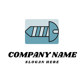 Blue Nail and Tool logo design