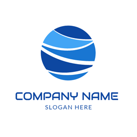 Blue Ocean Wave logo design