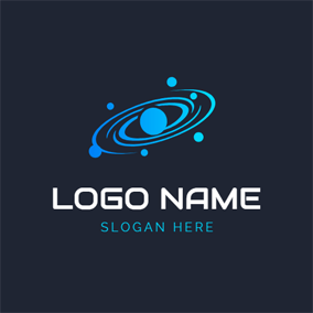 Blue Pathway and Galaxy logo design