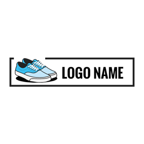 Blue Plimsolls Shoe logo design