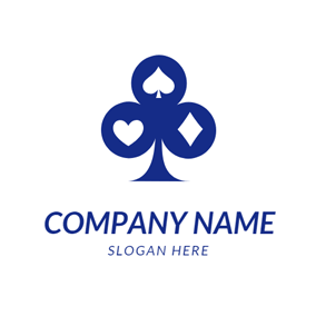 Blue Poker Icon logo design