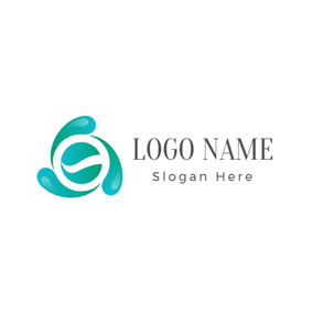 Blue Raindrop and Water logo design