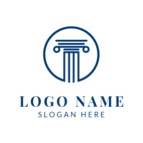 Blue Round Court logo design