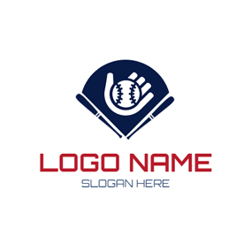 Blue Sector and Baseball logo design