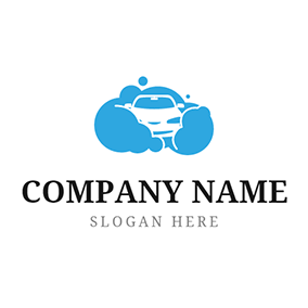 Blue Soap and White Car Wash logo design