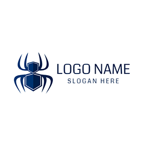 Blue Spider and Pest Control logo design