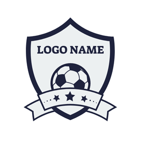 Blue Star and Gray Soccer logo design