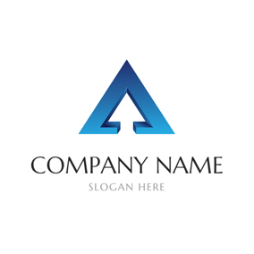 Blue Three Dimensional Delta logo design