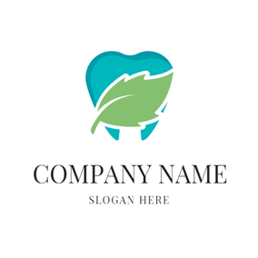 Blue Tooth and Mint Leaf logo design