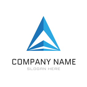 Blue Triangle and Abstract Mansion logo design