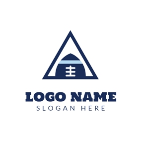 Blue Triangle and Rugby logo design