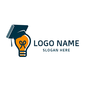 Book Bulb and Learning logo design