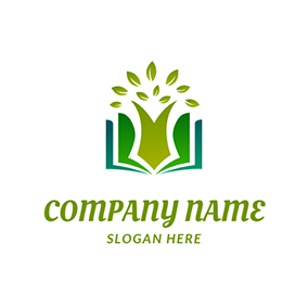 Book Tree Study Learning logo design