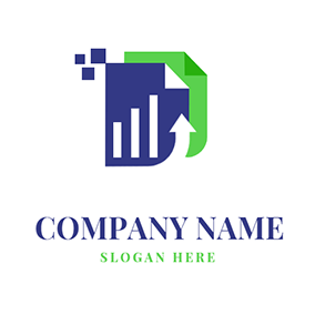 Bookkeeping Logo With Arrow logo design