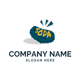 Bottle Cap and Soda logo design