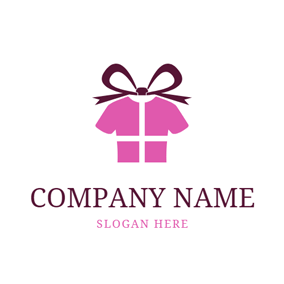 Bow Ribbon and Business Wear logo design
