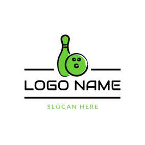 Bowling Pin and Bowling logo design
