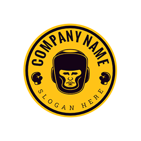 Boxer Fight Logo logo design