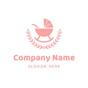 Branch and Baby Cradle logo design