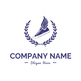 Branch and Sneaker Shoe logo design