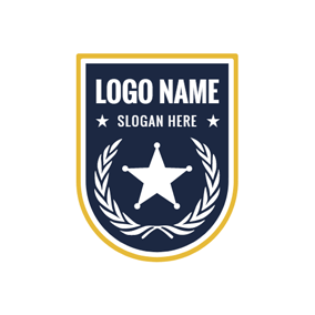 Branch and Star Badge logo design