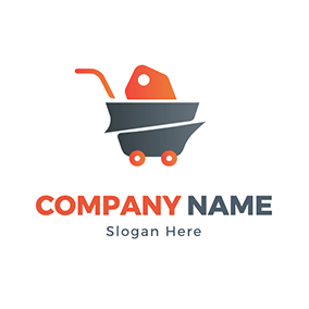 Brand Trolley Goods Wholesale logo design