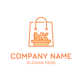 Bread Vegetable and Grocery logo design