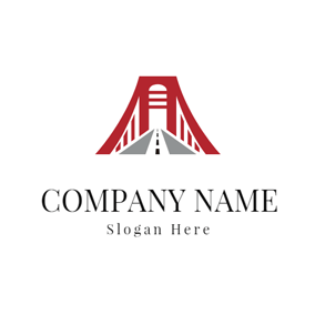 Bridge and Road Icon logo design