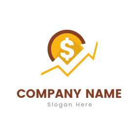 Broken Line and Coin logo design