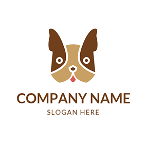Brown and Chocolate Bulldog Head logo design