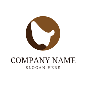 Brown and Khaki Short Hair logo design
