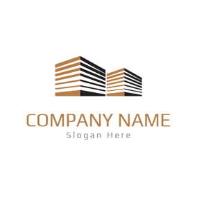 Brown and White Architecture logo design
