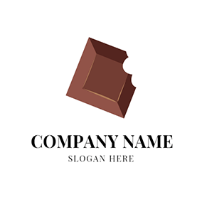 Brown and White Chocolate logo design