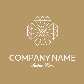 Brown and White Diamond logo design