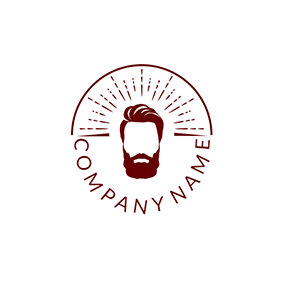 Brown and White Hipster logo design