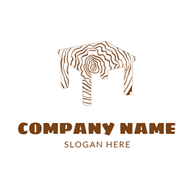 Brown and White Table logo design