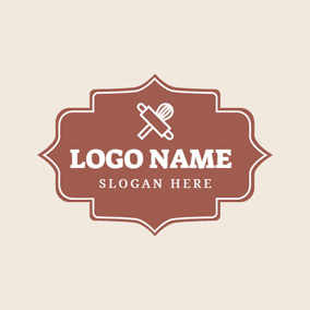 Brown Bottle Opener Drink Badge logo design